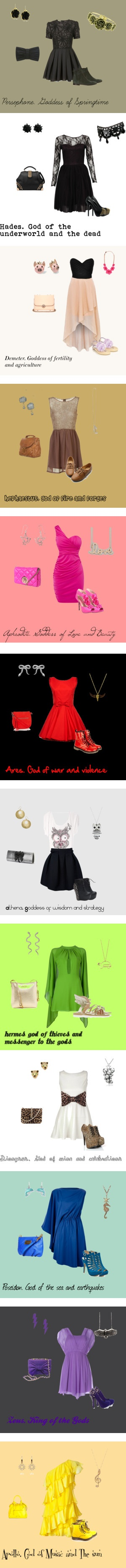 """""""Greek gods and goddess's"""" by lalalauren1 on Polyvore"""