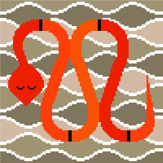 Images of sand dunes and a cute snake, this sweet cross stitch pattern will mesmerise reptile lovers of all ages. Perfect inspiration for the younger ones, this modern, minimalist design by CrossStitchtheLine will certainly keep you entertained for a few evenings while you embroider it!