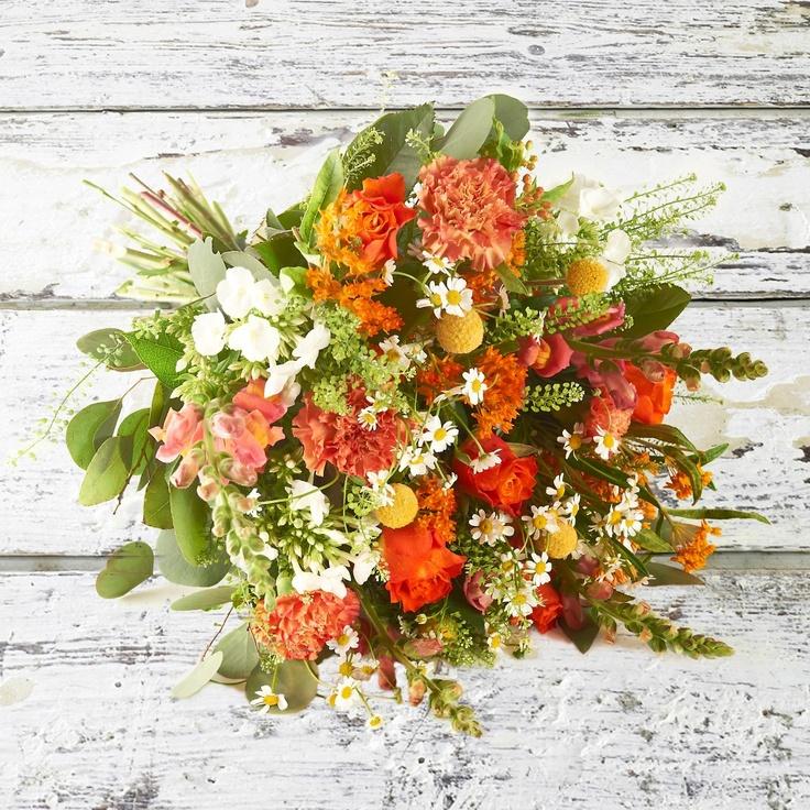 Gylden buket | Happyflower.dk