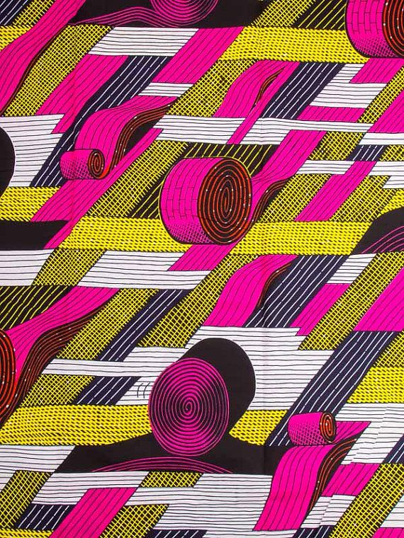 Super Wax Print African Fabric 6 Yards 100 by Africanpremier, $29.99