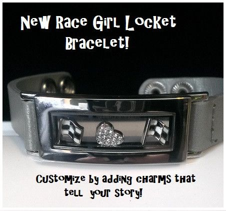 Race Girl Custom Lockets & Bracelets | Dirty Girl Racewear