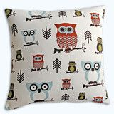 Cushionopoly: Hooty tooty - brown, 40cm or 45cm square