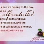 Fruit of the Spirit: Self-Control blog entry.