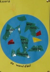 wereldbol knutselen kinderboekenweek 2012