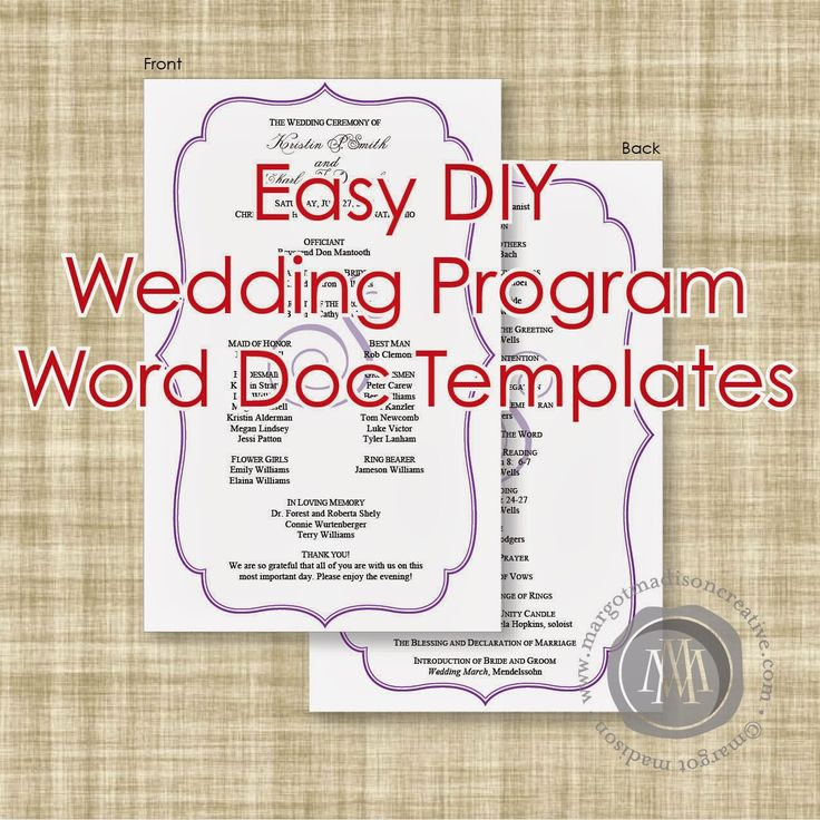 The 21 best images about Programs on Pinterest - download free wedding invitation templates for word