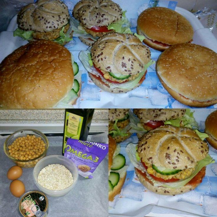 Domácí zdravé hamburgery