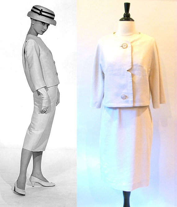 Audrey Hepburn / 1960s Fashion / 1960 Two Piece by CTMercantile, $115.00