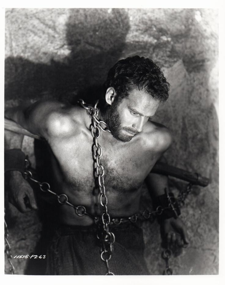 Charlton Heston in chains. Yeah, always found this sexy from Ben-Hur...