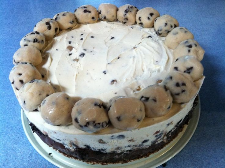 Brownie cookie dough ice cream cake when i a