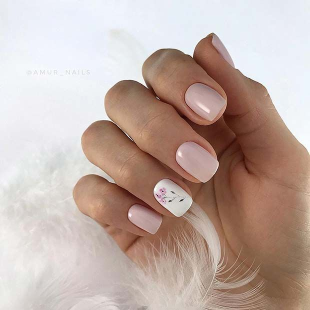 Pink Nail Design Ideas Thelatestfashiontrends Com In 2020 Simple Nails Nails Nail Designs