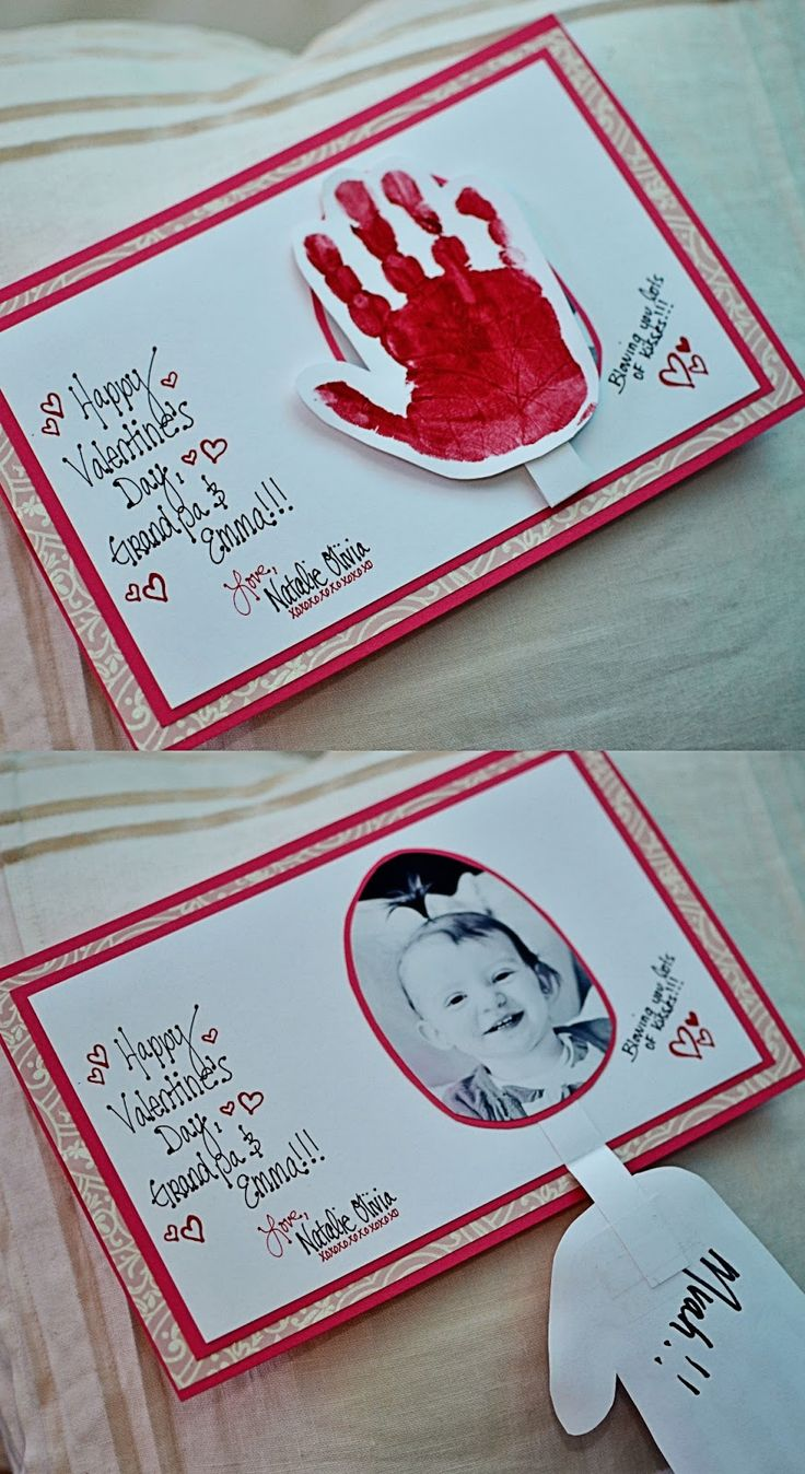 Growing The Gorton's: Getting Crafty on Valentine's Day with the perfect handprint cards for grandparents!