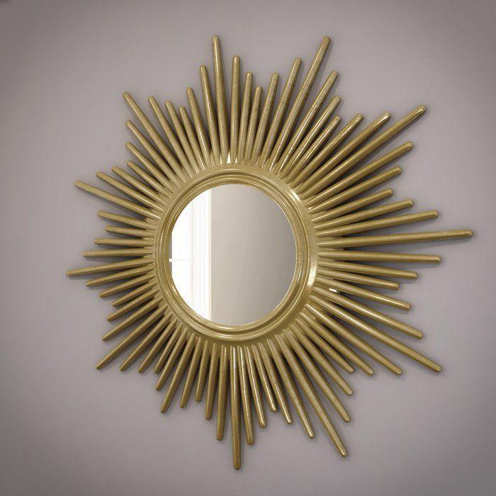 Josephson Modern Sunburst Accent Mirror Mirror Wall Accent Mirrors Oversized Wall Mirrors