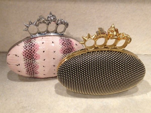 Oval clutch with crystal stones by @AlexanderMcQueen #clutch #worldmcqueen #FolliFollie #FW14collection