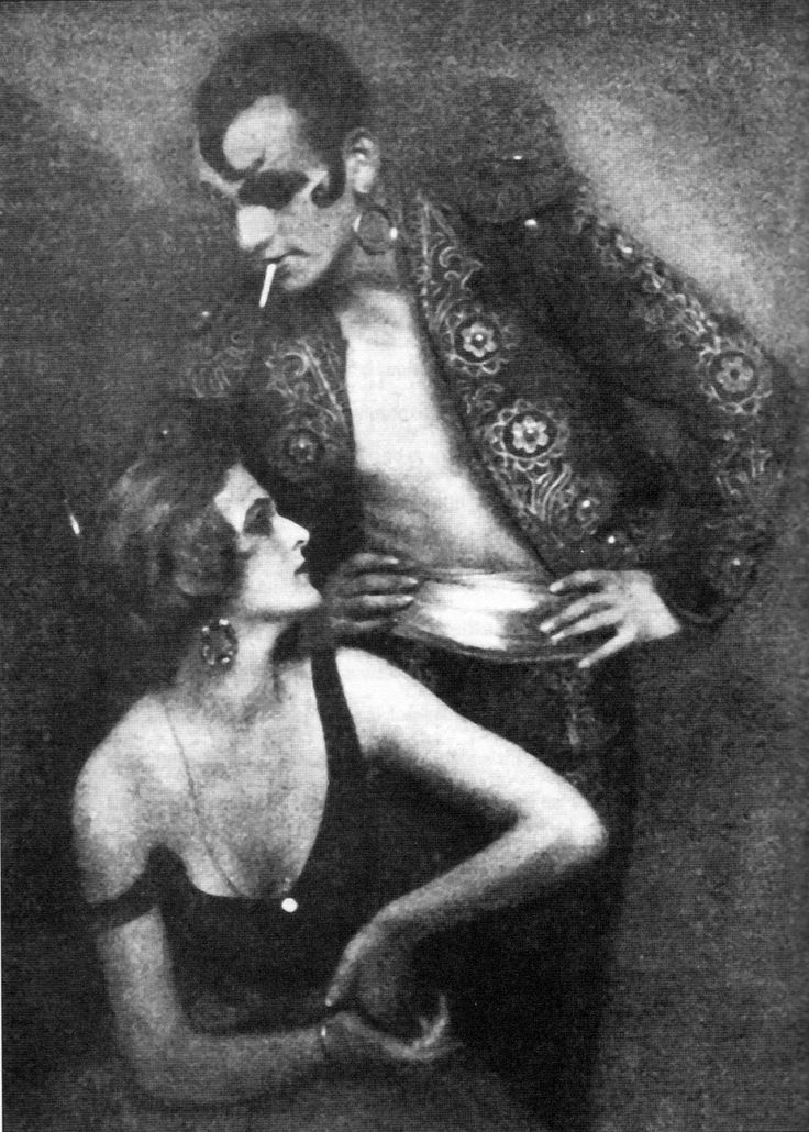 """""""Sebastian Droste (1892-1927) was a poet, actor and dancer. In 1922, Droste married expressionist exotic dancer and actress in German silent movies, Anita Berber"""" -Berlin, 1920s"""