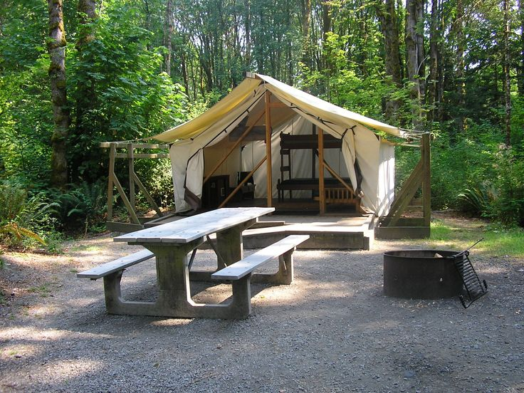 13 best permanent tents images on pinterest camping for Permanent tent cabins