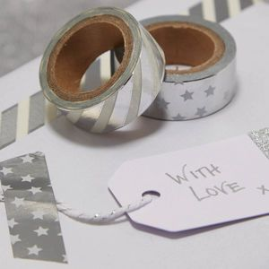 Silver Foiled Washi Tape - cards & wrap