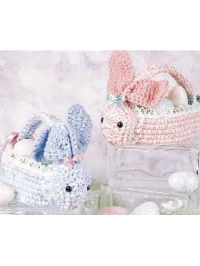 57 best crochet covers box bags free pattern images on pinterest bunny basket free pattern negle Images