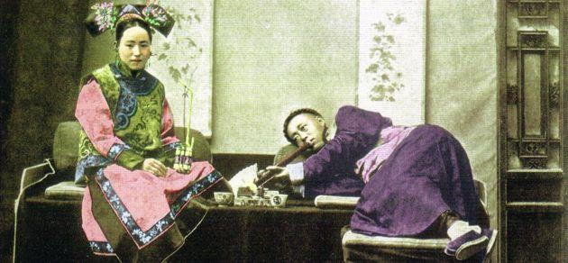 Fumeries d'opium en chine