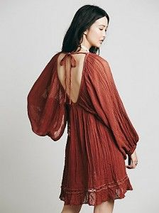 Bohem tarzı mini elbise