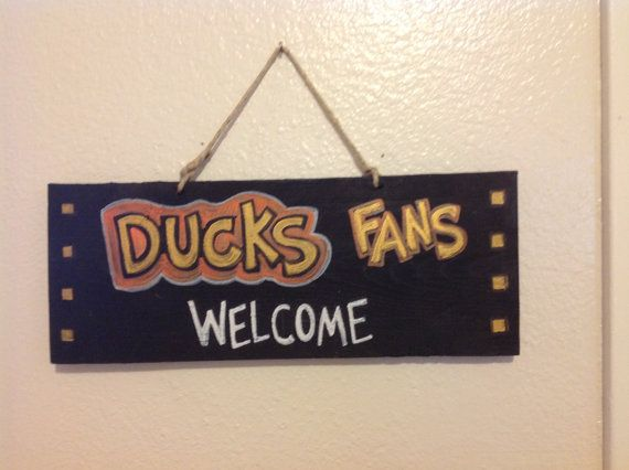 Anaheim ducks fans welcome sign on etsy 8 00