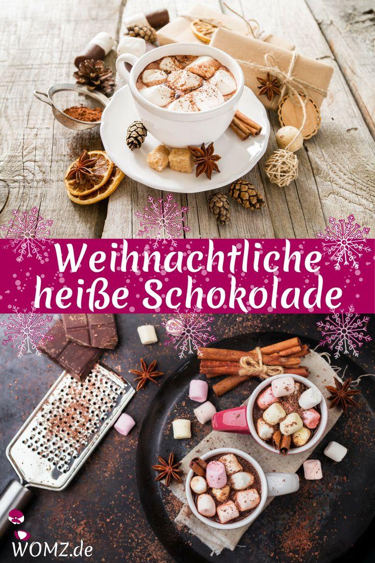 Wenn die Tage kälter werden wird es Zeit für eine weihnachtliche heiße Schokolade mit Zimt. Dieses leckere Rezept sorgt mit seinen vielen Variationen dafür, dass dir garantiert warm ums Herz wird. Ein absolutes Muss für jeden Schokoholic.  Dieses heiße Schokolade Rezept solltest du unbedingt mal ausprobieren #schokolade #weihnachten #rezept #weihnachtsrezept #trinken #getränke
