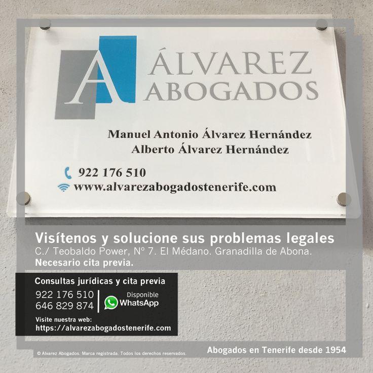 Alvarez Abogados Tenerife: Visítenos y solucione sus problemas legales. Necesario cita previa. https://alvarezabogadostenerife.com