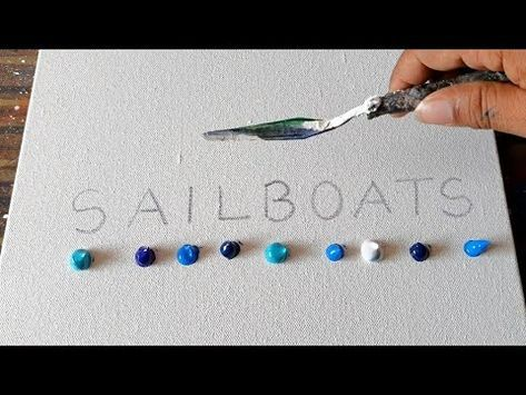 SAILBOATS / Abstract Painting Demo / Easy for Beginners / Relax / Daily Art Therapy / Day # 0171 – YouTube