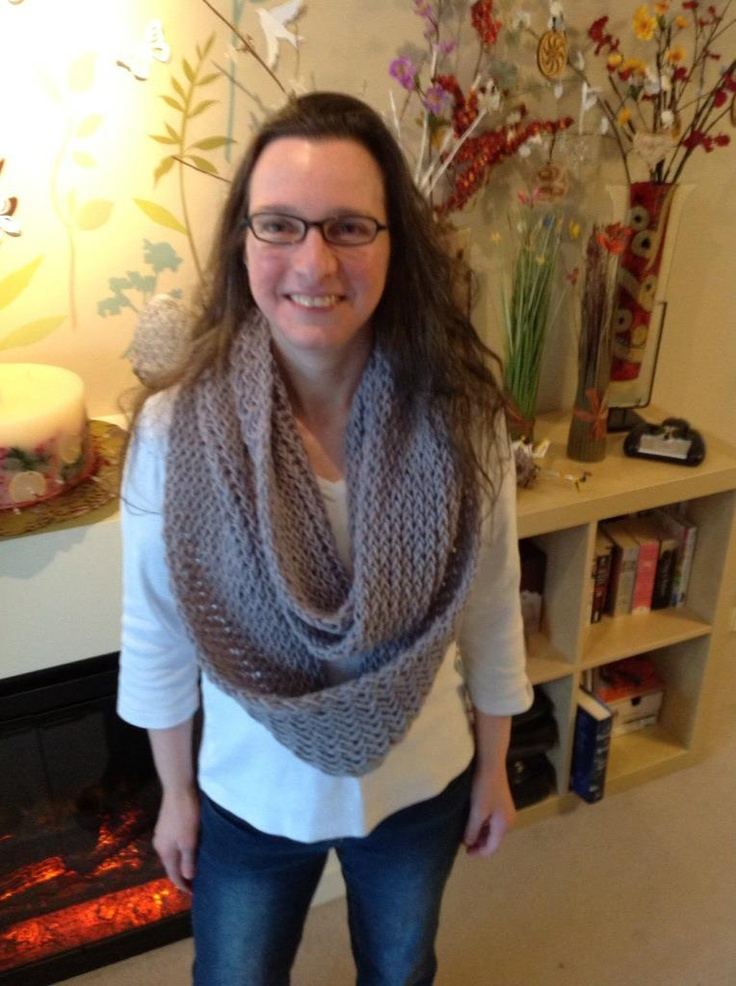 Double knitted Infinity Scarf on long loom. My Loom ...
