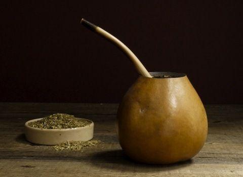 Mate Gourd and Bombilla + Yerba Mate