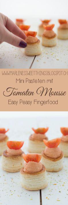 Mini Pasteten mit Tomaten Mousse sind der perfekte Fingerfood mit einem Jööhhh Effekt. Der Apero ist schnell und einfach Zubereitet, den das Rezept hat nur wenige Zutaten.