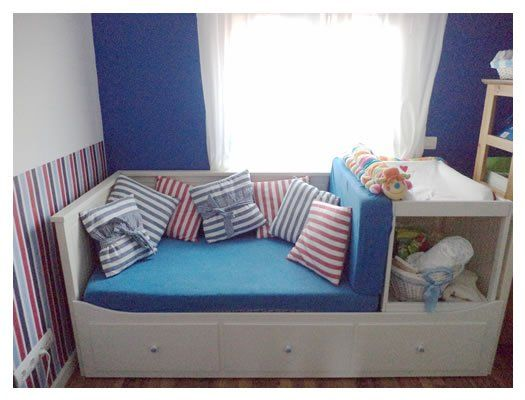 1000 ideas about ikea hack nursery on pinterest boys - Divano letto hemnes ...