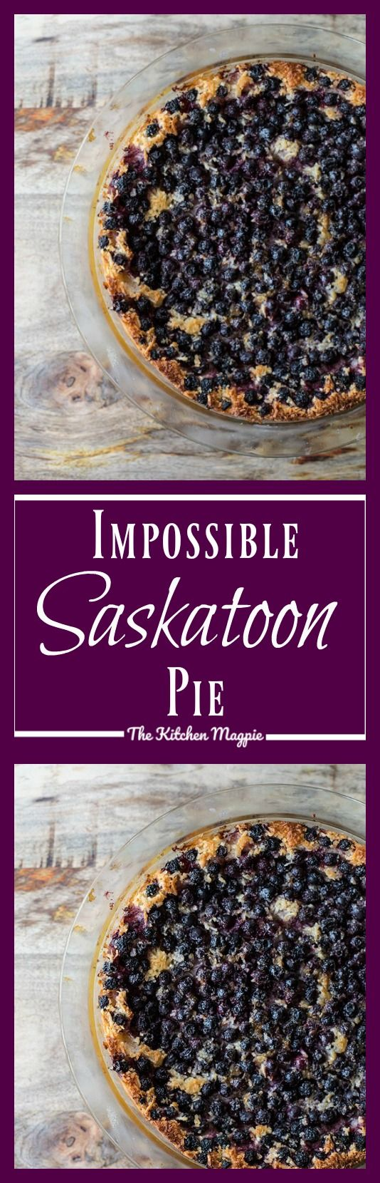 Impossible Saskatoon Pie - The Kitchen Magpie