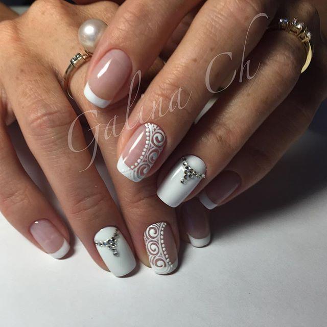 #маникюр #ногти #ногтиспб #дизайнногтей #дизайнногтейспб #пальчики #маникюрспб #маникюрчик #френчманикюр #френч #маникюрсостразами