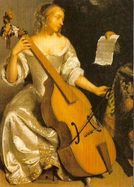 St. Cecilia, by Caspar Netscher (Dutch, c. 1635-1684)