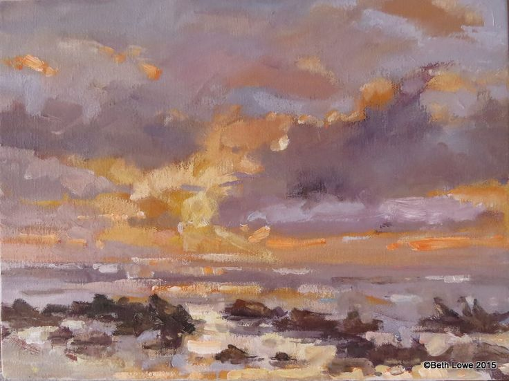 Golden sky Oil on canvas 300x400mm