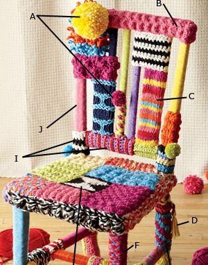 Eski Sandalyenizi İplikle Dekore Edin