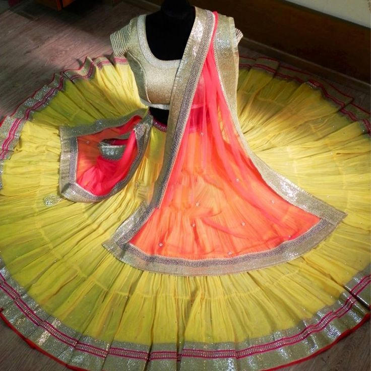 colorful, beautiful lehenga by Chamee and Palak