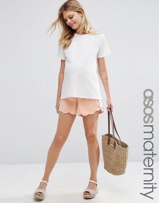 ASOS Maternity | Pantalones cortos con el bajo festoneado de ASOS Maternity