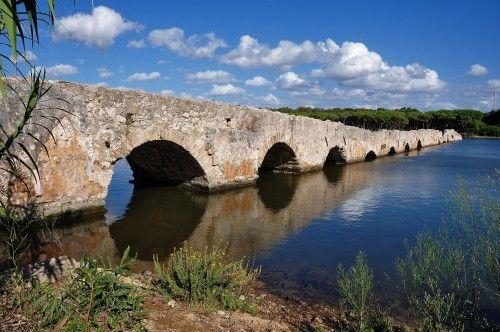 Il Ponte Romano dello Stagno del Calik a Fertilia (Alghero).