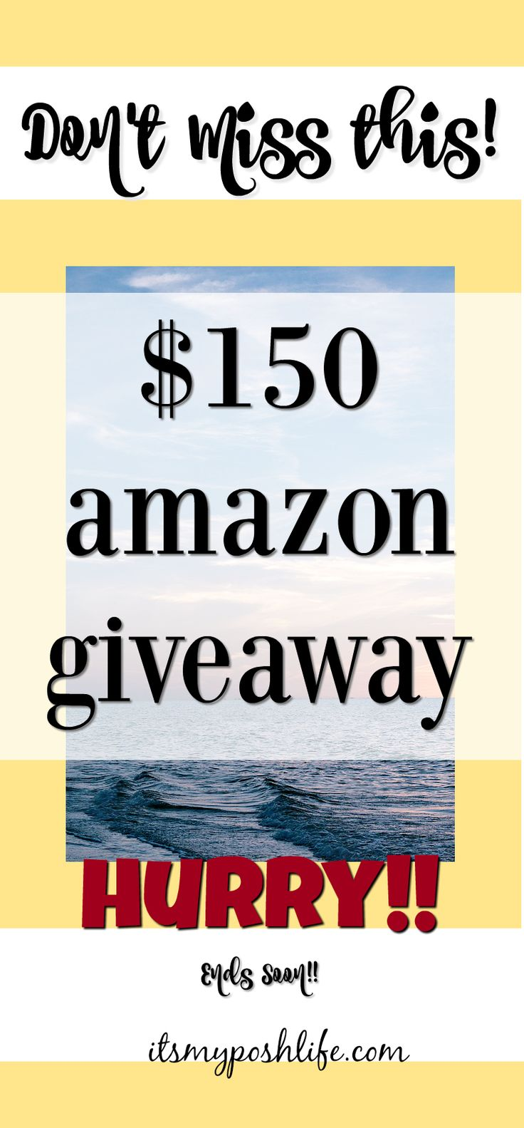 Ends soon!!! What would you do with $150 to AMAZON?? http://poshonabudget.com/2017/01/150-amazon-giveaway-ww.html#