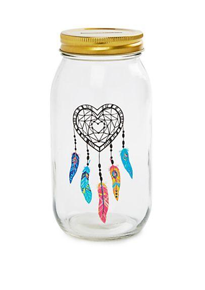 image of Heart Dreamcatcher Mason Jar Banks
