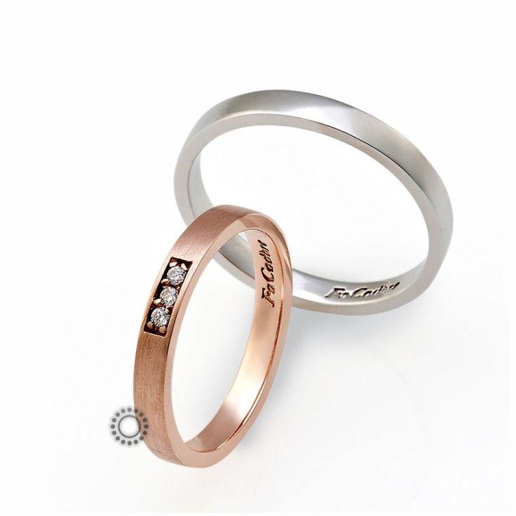 Βέρες γάμου Facadoro 39Α/39Γ - Ένα λιτό και κλασικό σχέδιο από λευκόχρυσες ή ροζ χρυσές βέρες FaCadoro | ΤΣΑΛΔΑΡΗΣ στο Χαλάνδρι #βέρες #βερες #γάμου #greece #facadoro #tsaldaris