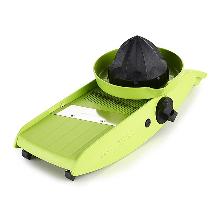 Kitchen Master Easy-Hold Mandoline Slicer with Lemon Squeezer - Green