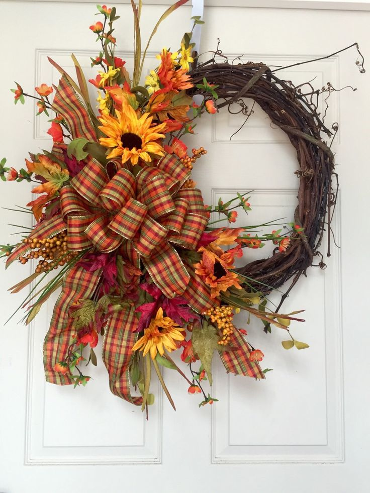 Fall or Autumn Grapevine Wreath by WilliamsFloral on Etsy…
