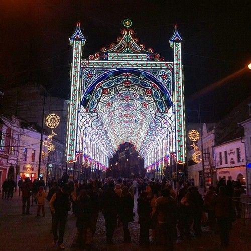 Sibiu, winter, holidays, LED