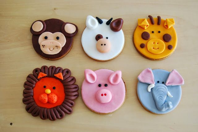 Las mejoras galletas con caras de animales de fondant del mundo!! Best animal biscuits made with fondant ever!!