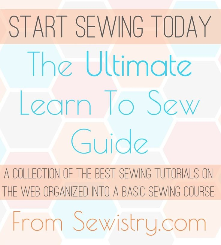 Basic sewing tutorials