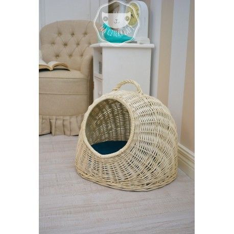 House, bed, transporter for dog or cat. The apartment can serve as a house, shelter, if your dog or cat wants to rest. Padded turquoise pillow with removable cover, which is easy to clean.