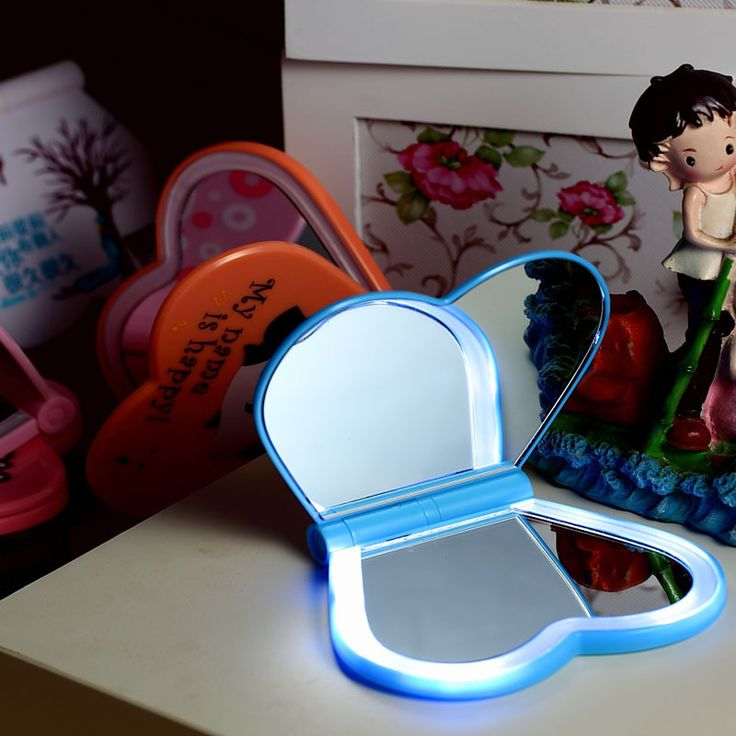 HGhomeart New strange new products LED folding lamp mirror lights love luminous portable folding mirror mirror creative hot, View Luminous mirror portable folding mirror led folding lights strange new folding lamp, Product Details from Dongguan Haogao Electronic Technology Co., Ltd. on Alibaba.com