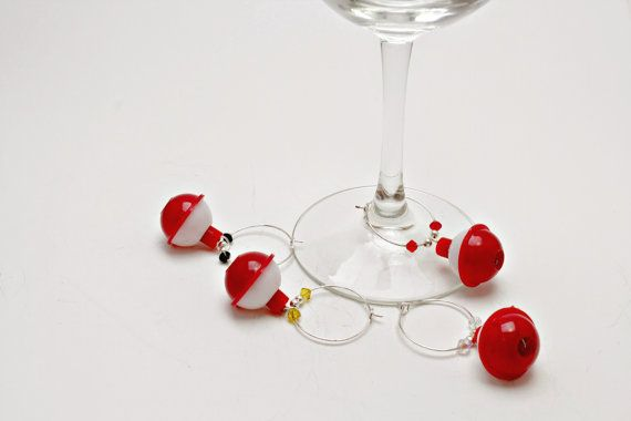 Fishing Bobber Wine Charm Fish Wedding Favor by KozyInKodiak